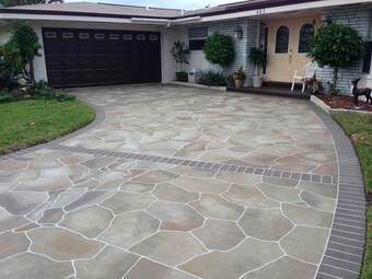 Panama City Concrete Contractor - Stamped Concrete Driveway