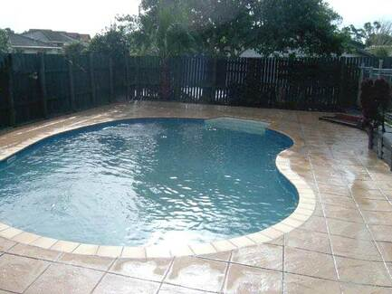 Panama City Concrete Contractor - Stamped Concrete Pool Patio